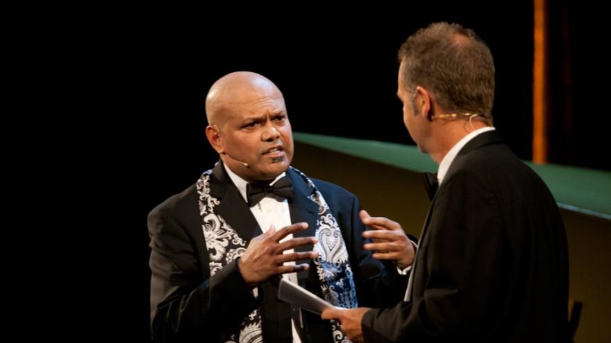 INDEX: Award 2011 Hosts  Ravi Naidoo & Adrian Lloyd Hughes.