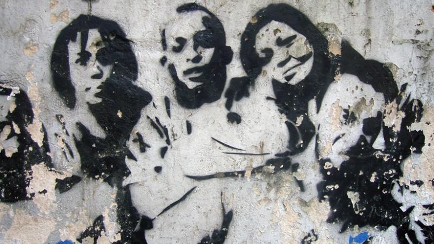 Graffiti portrait of local civic heroes, Favela, Rio, Brasil. Photo: Satyendra Pakhalé.