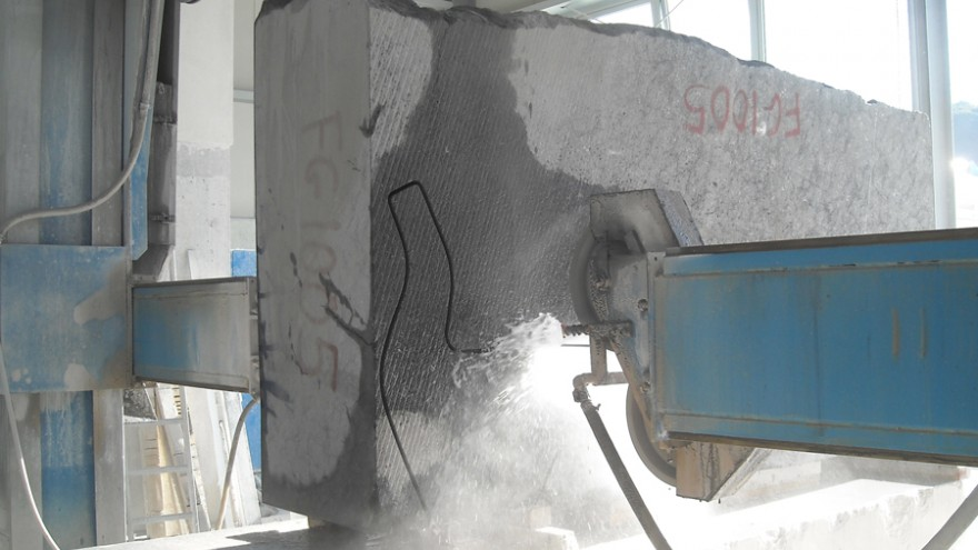 Nero marquina marble being cut for making the first Black Swan. Satyendra Pakhalé Design Studio.