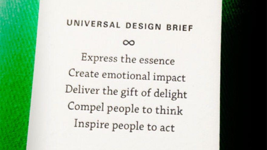 Universal Design Brief by SYPartners