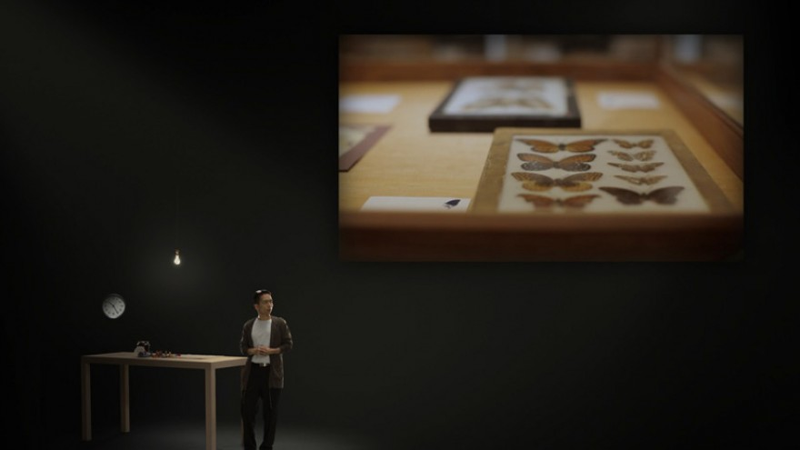 john maeda's interactive lecture 'atoms + bits = the neue craft' has been the second exhibition of the web-based  adobe museum of digital media,