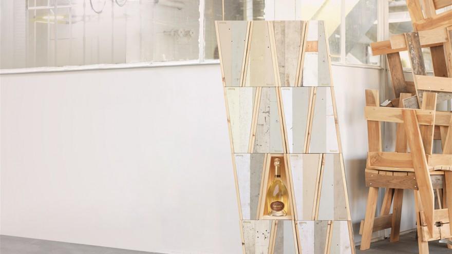 Reclaimed Wood Packaging for Ruinart by Piet Hein Eek.