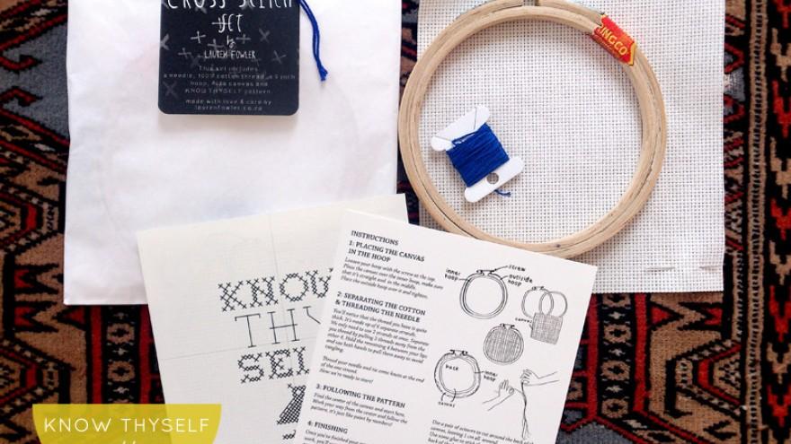 Cross-Stitch kit by Lauren Fowler.