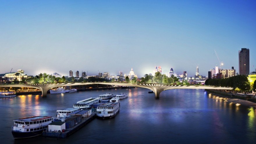 Garden Bridge by Thomas Heatherwick.