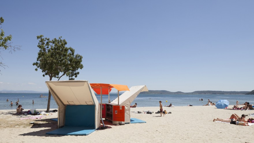 Beach Library by Matali Crasset. Photo: Philippe Piron.