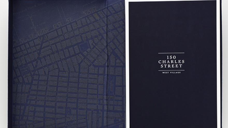 150 Charles Street identity by Michael Bierut.