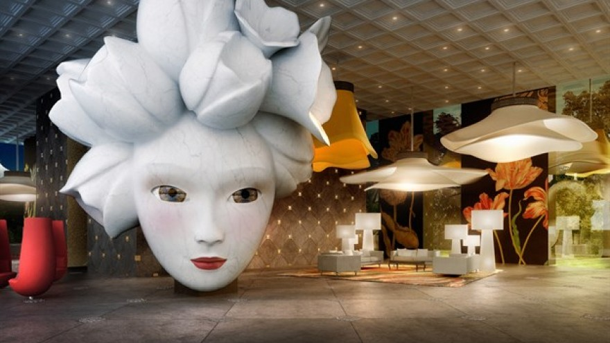 Quasar Residence interior by Marcel Wanders.