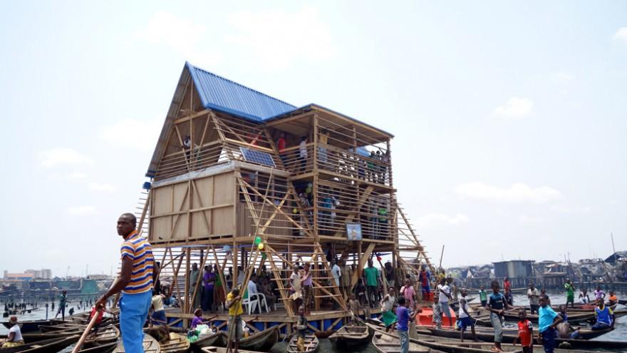 Makoko Floating School by NLÉ. Photo: cmapping.net.