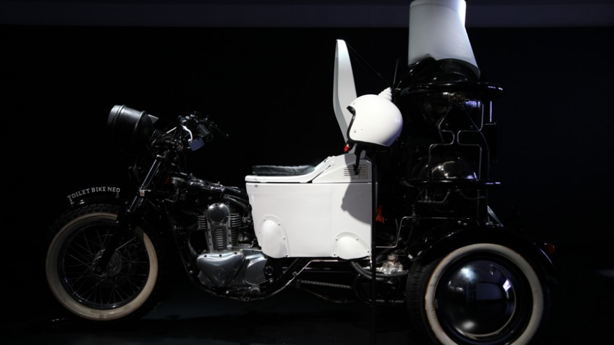 "Toilet Bike in the ""Not There"" exhibition by PARTY."