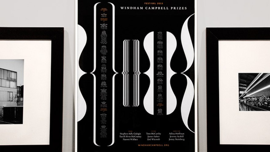 Windham Campbell Prizes identity, poster by Michael Bierut.
