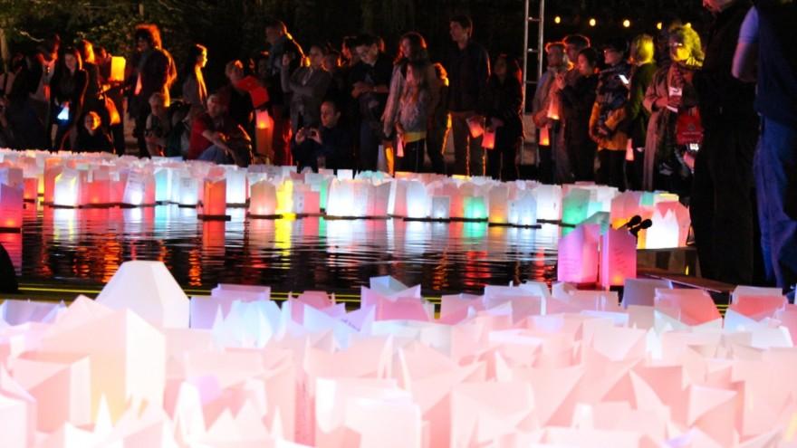Shinnyo Lantern Floating, New York.
