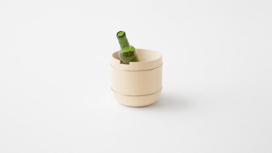 Uneven-Oke Bucket from the Oke collection by Nendo. Image: Akihiro Yoshida.
