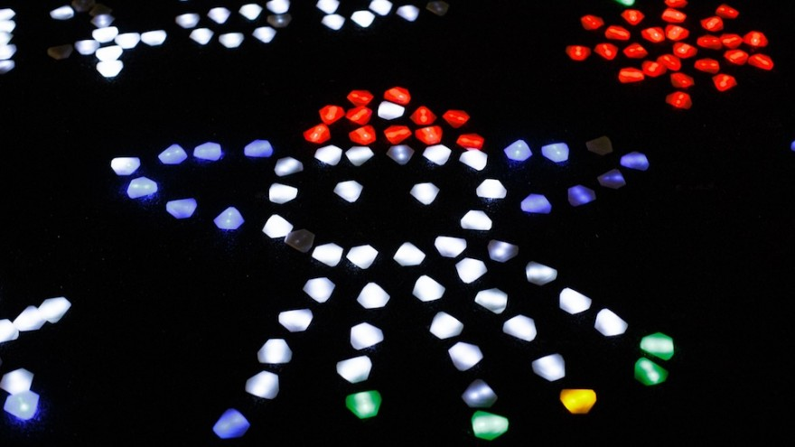 Innovative crystals of light in Eindhoven by Daan Roosegaarde.