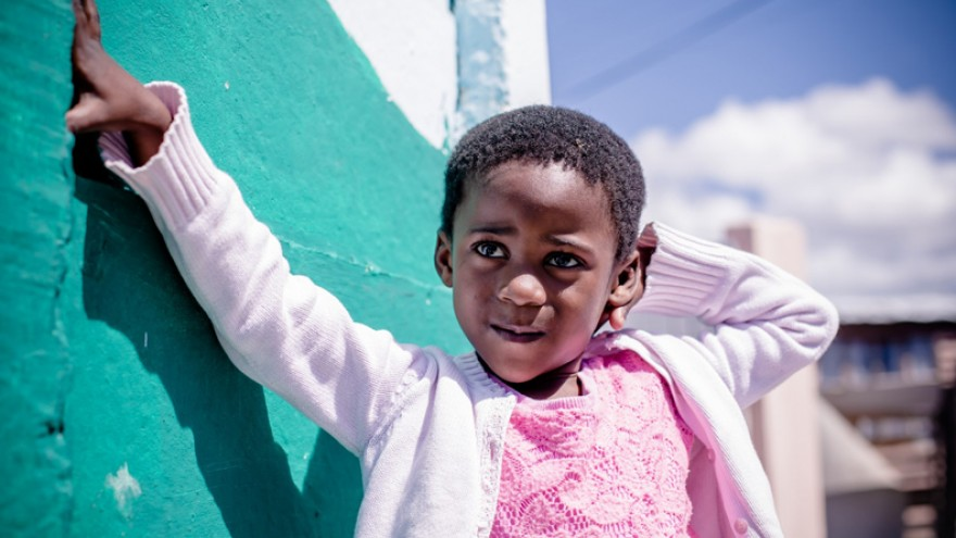 A resident of the Gege crèche in Langa. Image: Sandy Greenway.