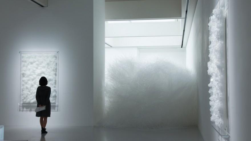 Crystallize exhibition: Swan Lake by Tokujin Yoshioka.