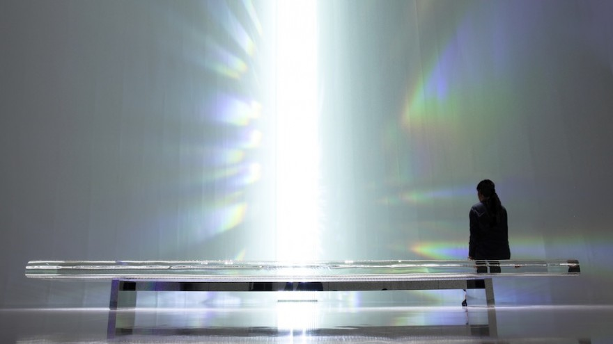 Crystallize exhibition: Rainbow Church by Tokujin Yoshioka.