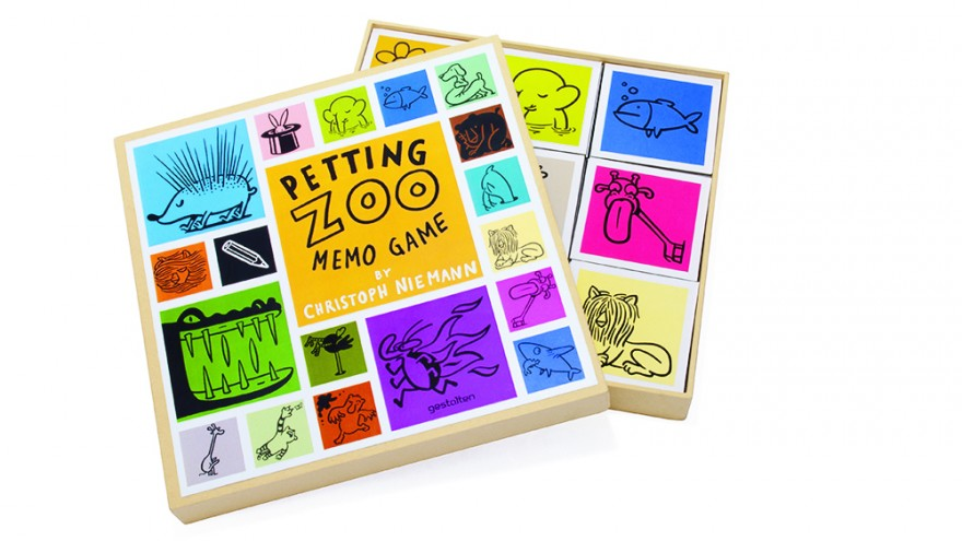 Christoph Niemann —Petting Zoo Memo Game, copyright Gestalten 2013.