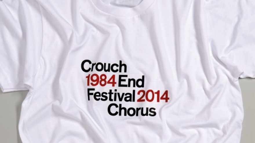 Visual identity for the Crouch End Festival Chorus by Harry Pearce.