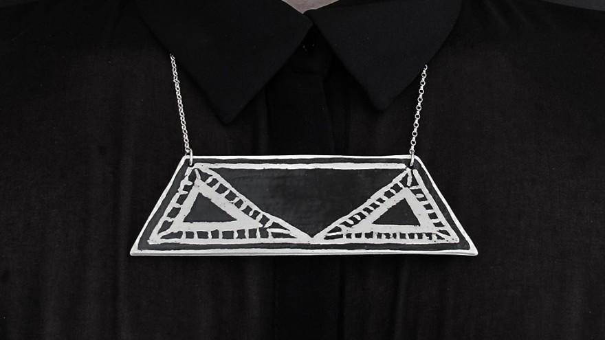 Urban Tribe neckpiece by Alexia Klompje.