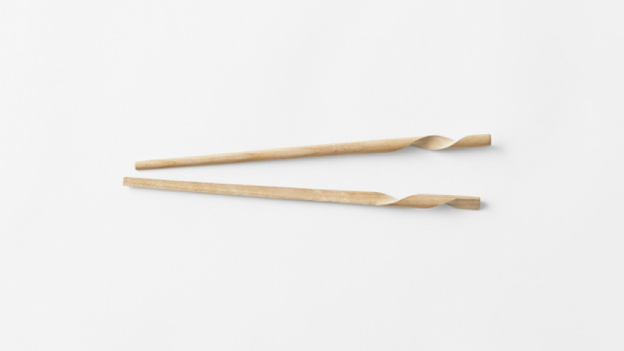 The Rassen chopstick design by Nendo. Image: Akihiro Yoshida.