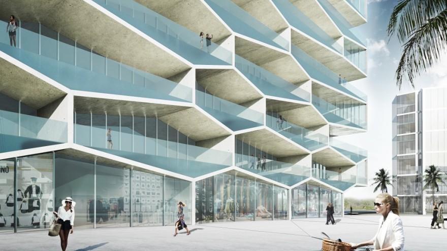 Honeycomb by Bjarke Ingels.