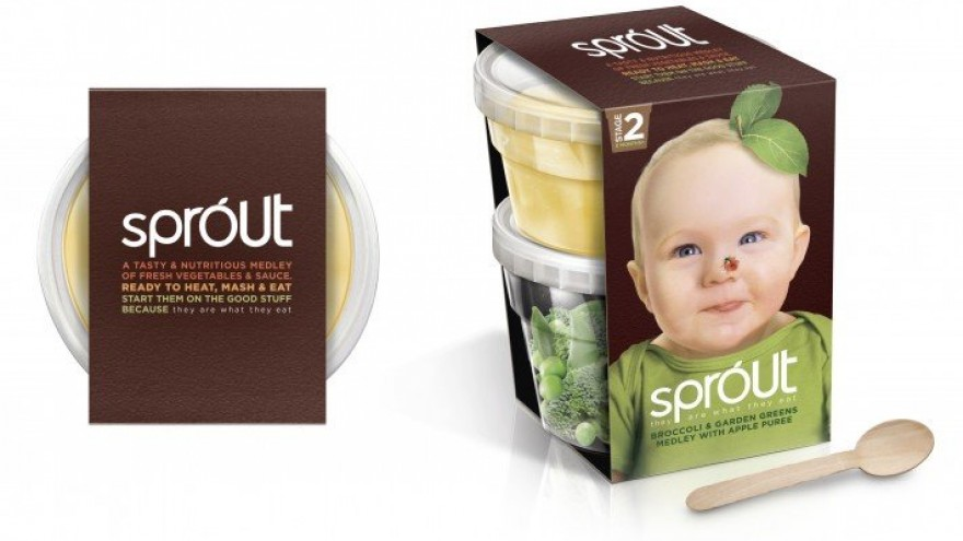 Sprout Baby Food Brand by Springetts Brand Design Consultants