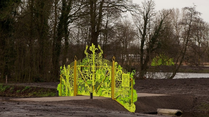 New entrance gates at the Aemstel Schooltuin by Studio Tjep.
