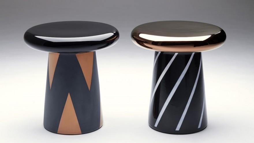 Ceramic side tables by Jaime Hayón for Bosa.