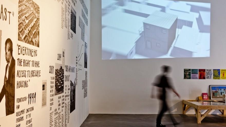 Empower Shack exhibition by Alfredo Brillembourg and Hubert Klumpner.