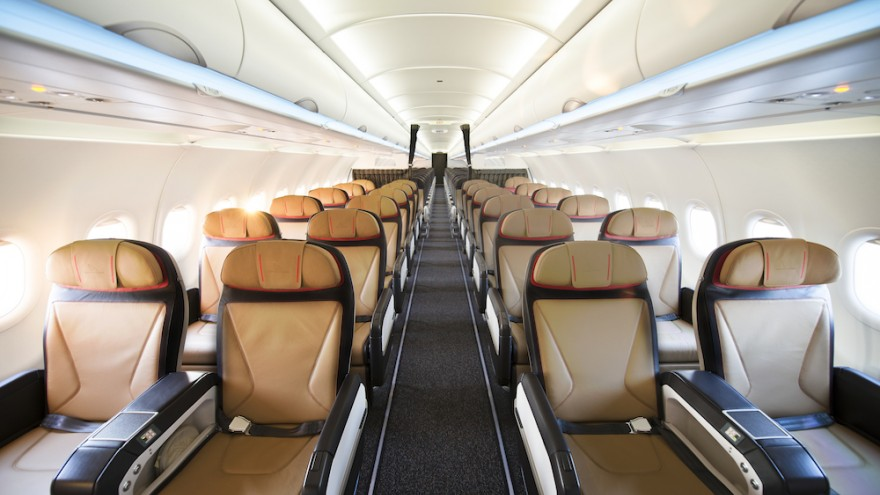 New SAA business class cabin designed by Priestmangoode.