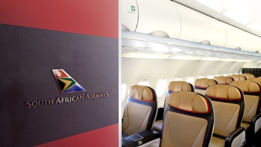 New SAA cabin entrance and business class designed by Priestmangoode.