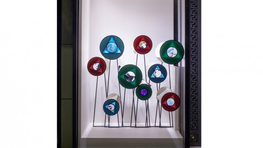 Window display for Maison Hermès, Japan by Oscar Diaz.