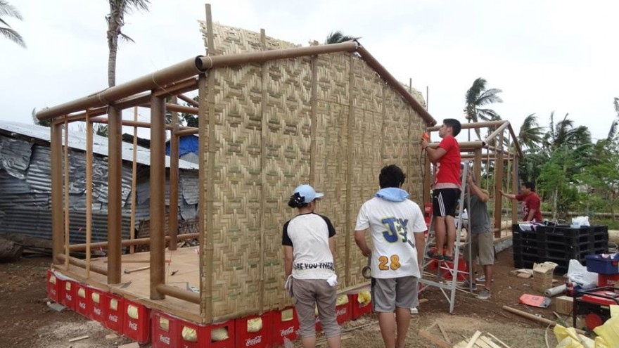 Paper log house by Shigeru Ban.