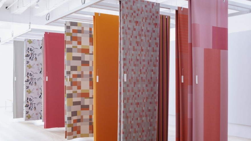 Maharam's collection of fabrics include the new Block (front panel) by Scholten & Baijings. Image: Dean Kaufman.