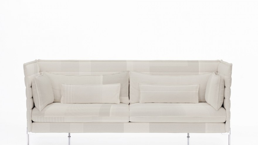 Sofa upholstered in Grid by Scholten & Baijings.