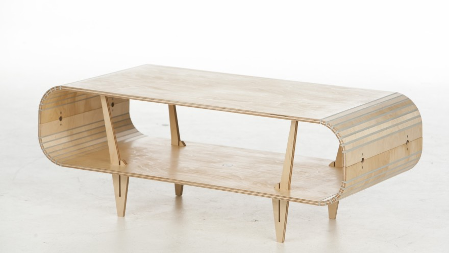 Stratflex Orbit coffee table designed by Al Stratford