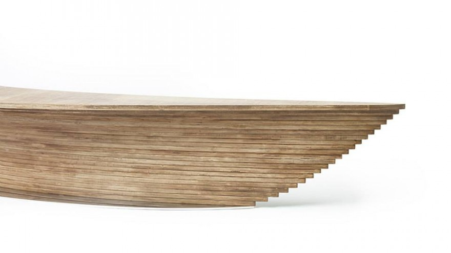 Contoured Crater desk by Ifeanyi Oganwu.