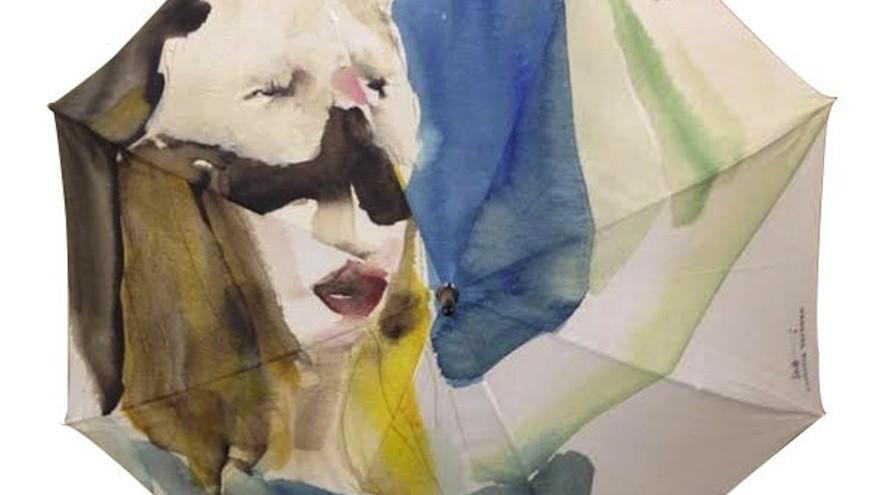Bye Bye Bunny umbrella by Victoria Verbaan.