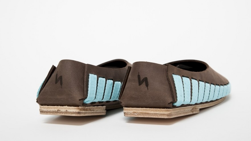 Detail of Pikkpack shoes. Image: Krisztina Filep.