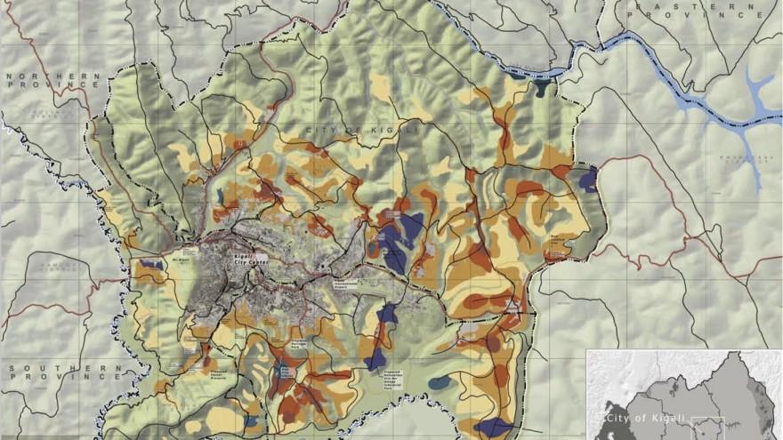 Map of Kigali.