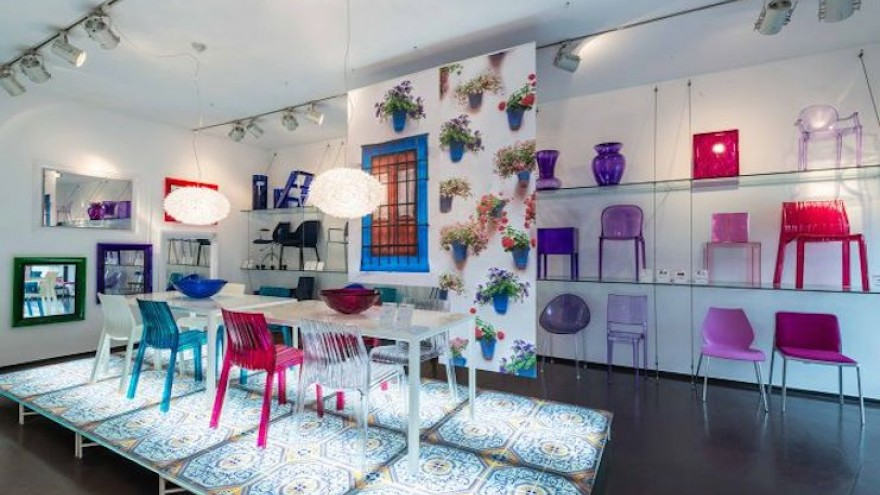 """Kartell dedicated an exhibtion to their partnership with Patricia Urquiola named """"Urquiolawelt!"""""""