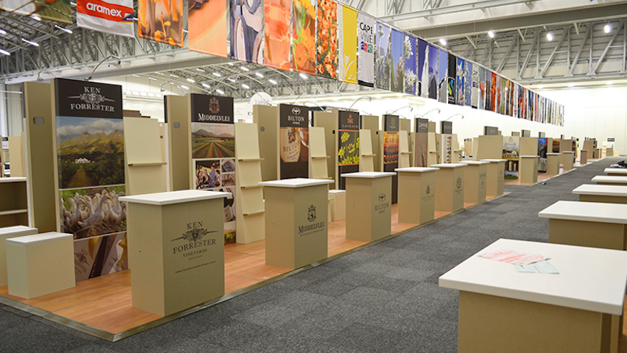 Xanita X-board was used to make all the stalls at the 2012 Wine of South Africa Expo.
