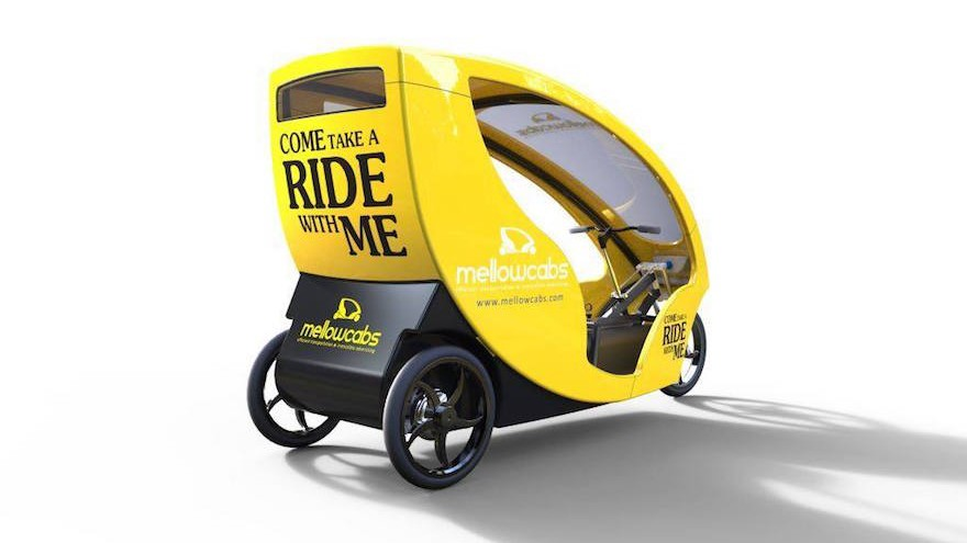 Mellowcabs electric taxi, designed with the help of experts Ideso.