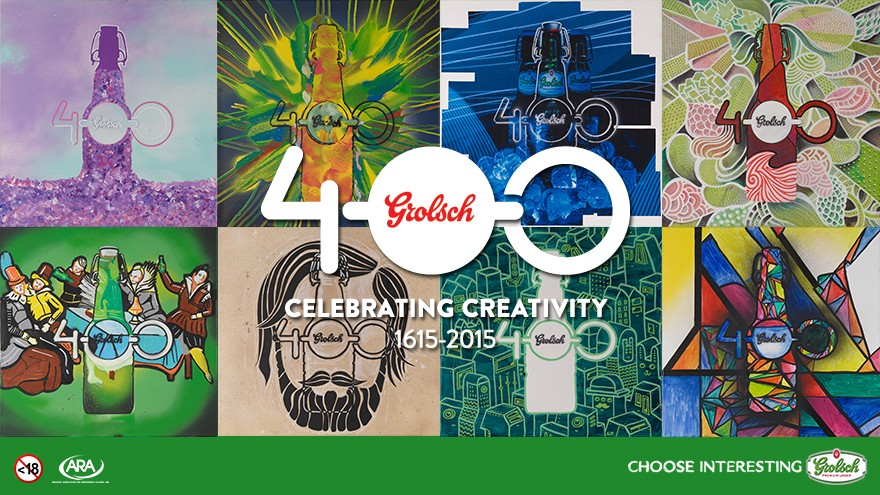 Grolsch is celebrating 400 years of creativity.