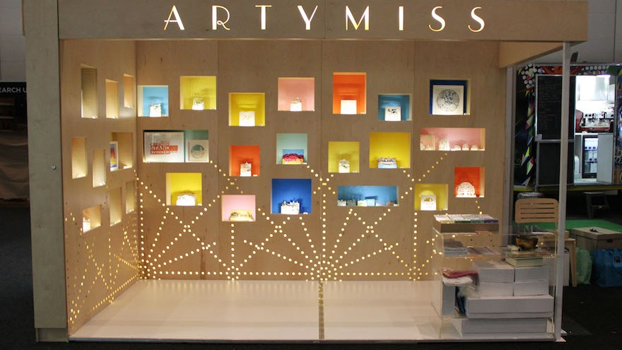 The Artymiss stand at Design Indaba Expo, winner of the Most Creative Stand Award 2015.