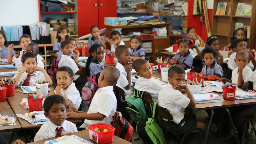 Students at Kannemeyer Primary School in Grassy Park Cape Town