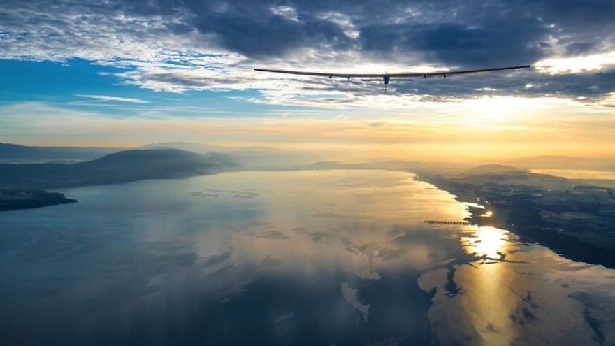 The Solar Impulse 2 is the first solar powered aircraft to circumnavigate the world carrying a pilot.
