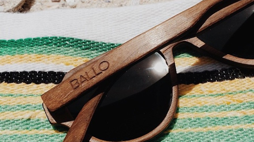 Ballo wooden eyewear is made locally from wood offcuts and recycled paper.