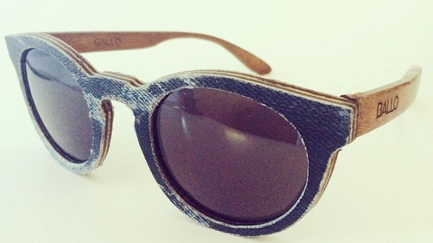 A pair of denim covered frames. Upcycled old jeans!