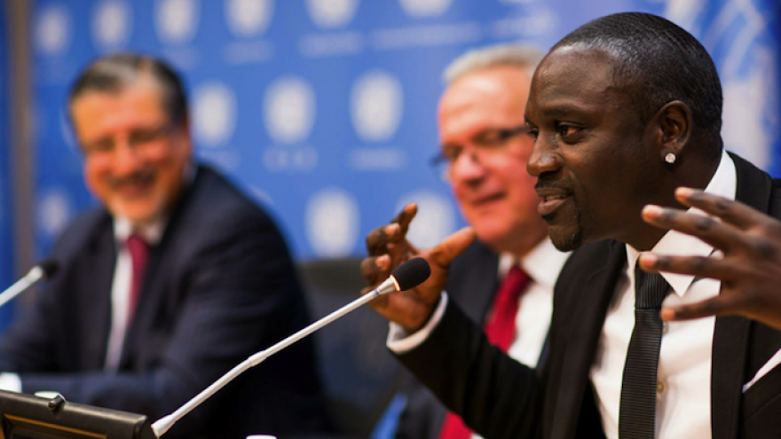Akon at United Nations forum.